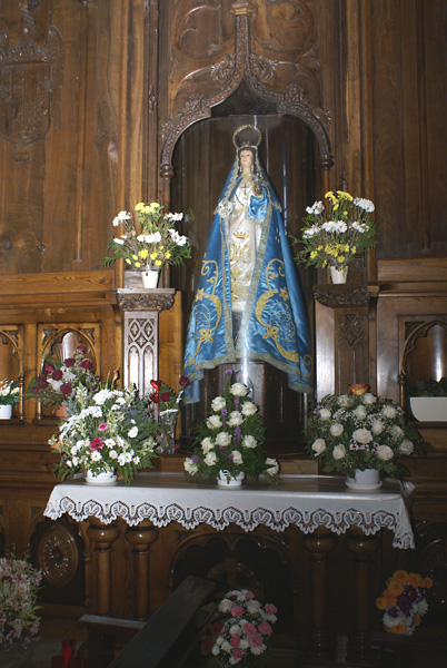 Imagen de la Virgen de los Milagros